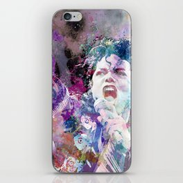 Watercolor portrait iPhone Skin