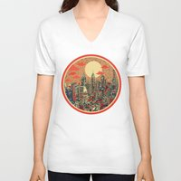 philadelphia V-neck T-shirts featuring philadelphia by Bekim ART