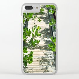 Long Key Boardwalk Clear iPhone Case