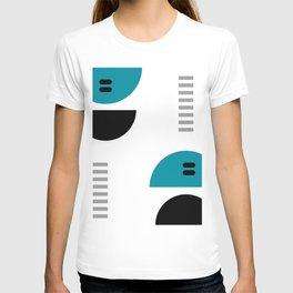 Shapes Blue Black Gray T-shirt