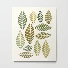 Leaves Arrangement Metal Print