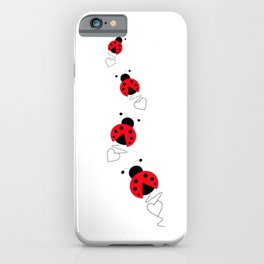 Ladybug Love iPhone Case