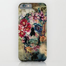 Skull on old grunge II iPhone Case