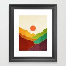 Minimal Landscape 11 Framed Art Print