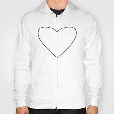 White Heart Hoody