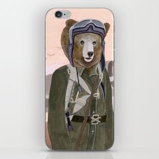 Aviator Bear iPhone & iPod Skin