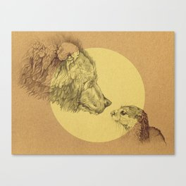 Bear Meets Otter Canvas Print