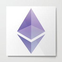 Ethereum ETH Blue Purple Logo Design Metal Print
