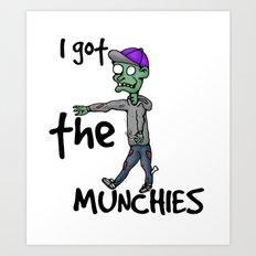 Stoner Zombie Art Print
