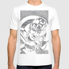 Hawkeye White MEDIUM Mens Fitted Tee