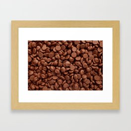 Milk chocolate chips Framed Art Print