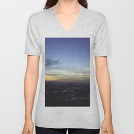 Boise Sunset Unisex V-Neck