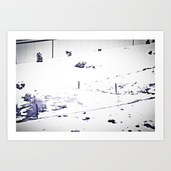 Overrun by Snow Art Print