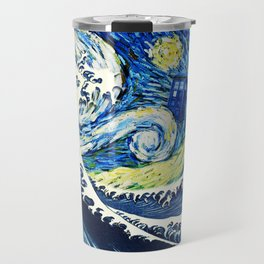 Tardis Flying Wave Night Travel Mug