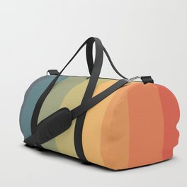 Colorful Retro Striped Rainbow Duffle Bag