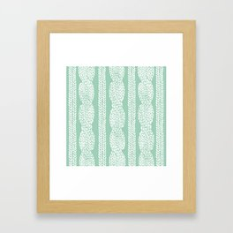 Cable Mint Framed Art Print