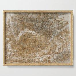 Leonardo da Vinci, A Deluge, 1517 Serving Tray