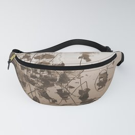Lotus in Sepia Fanny Pack