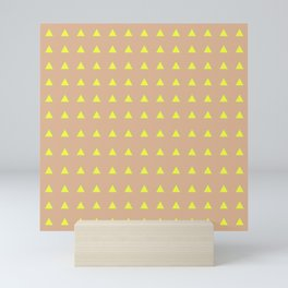 Neon Triangles - Yellow Mini Art Print