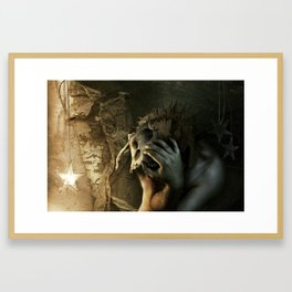 Even if I have to tear my world apart... Framed Art Print