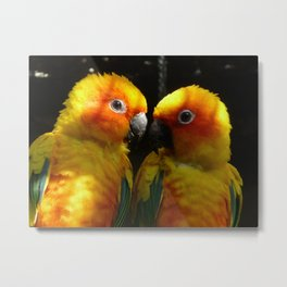 Love in Yellow Metal Print