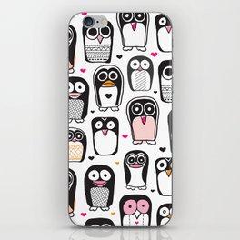 Adorable little penguin illustration pattern iPhone Skin