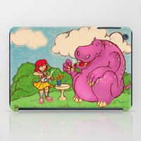 hippo iPad Cases featuring Hippo by Rafael Paschoal