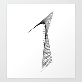 """""""Linear Collection"""" - Minimal Number One Print Art Print"""