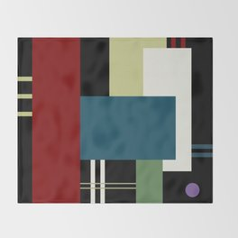 GEOMETRIC ABSTRACT Throw Blanket