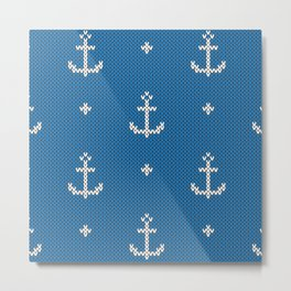 knitted anchor Metal Print