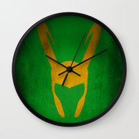 loki Wall Clocks featuring Loki by Some_Designs