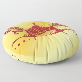 Bridal Palanquin India.doli silhouette Floor Pillow