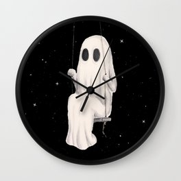 Swinging Into The Cosmos Wall Clock
