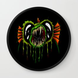 Creatures from the deep dark sea - Open Mouth Green Angler Fish Wall Clock
