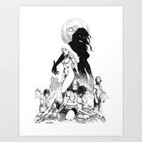 Island of the Vampire Witches Art Print