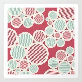 Stripes Circles Art Print