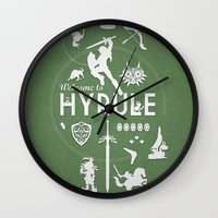 hyrule Wall Clocks featuring Welcome To Hyrule by s2lart