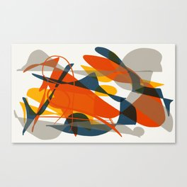 Abstract Bird Canvas Print