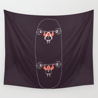 skateboard Wall Tapestries featuring Heavyweight Skateboarding by Jacques Maes