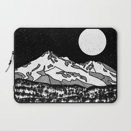 Mount Shasta Black and White Laptop Sleeve