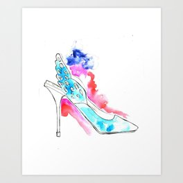 Wing Shoes Art Print