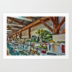 The good ole country fair Art Print