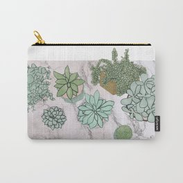 mixed succulents Carry-All Pouch