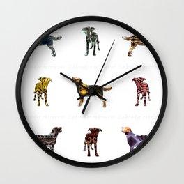 Random shapes of the dog Labrador retriever Wall Clock