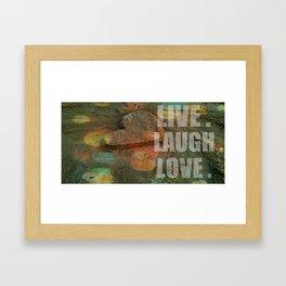 LIVE. LAUGH. LOVE. Framed Art Print