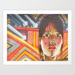 Continental Summit of Indigenous Peoples Mural Art Print