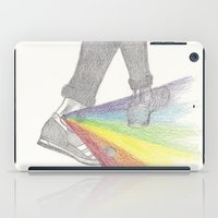 louis tomlinson iPad Cases featuring Louis Tomlinson studies rainbows by Jen Eva