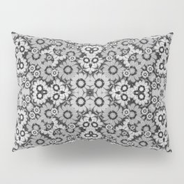 Geometric Stylized Floral Print Pillow Sham