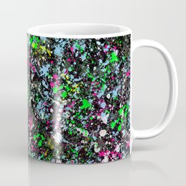 paint drop design - abstract spray paint drops 2 Coffee Mug