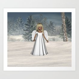 Little Winter Angel Art Print